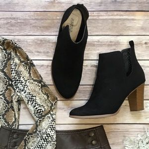 Just Fab • Black Block Heel Bootie